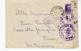 4526 FIUME FONTANA DEL CONTE X RUSSI CENSURA CON TESTO - 1900-44 Victor Emmanuel III.