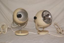 LOT D ANCIEN SPOT BOULE - Lampe , Deco , Loft , Atelier , Design - Lámparas