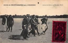 CPA Arrivée Du CIRCUIT EUROPEEN 1911 à VINCENNES - Arrivée De Garros, Sur Monoplan Blériot - Aviatori