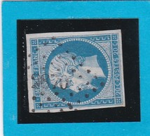 N° 14A     PC  2870   SEMUR-en-AUXOIS  ( 20 )  COTE D'OR  - REF 14112 + Variété Corne - 1853-1860 Napoleon III