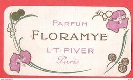 Calendrier Sur Carte Parfumée Parfum FLORAMYE Piver PAris 1914 - Calendriers