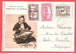 Superbe Entier Illustré  La Dinaderie Algérienne Obl AIN BESSEN 20 I 1940 Vers Uccle Belgique - Algérie (1924-1962)