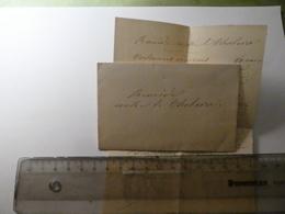 """Remède Contre Le Cholera - Manuscript Dans Enveloppe - """"recette"""" - Documents Historiques"""