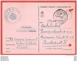 HONGRIE MAGYAR  CP Dijmentes  Obl MISKOLZ  Belligérant Interné Prisonnier Polonais  7 V 1940 - Hongrie