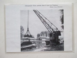 1958 TOULOUSE Port -  Grue Fluviale Chargement Péniche  - Ancienne Coupure De Presse - Historical Documents