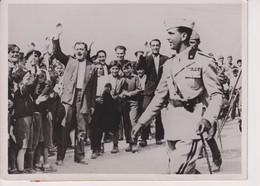 1936 MANOEUVRES ITALIENNES PRES DE NAPLES PRINCE DE PIEMONT POPULATION D'IRPINIA   18*13CM - Oorlog, Militair