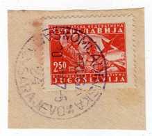 Yugoslavia 1947 Omladinska Pruga Šamac Sarajevo Cancel; Cutout - 1945-1992 République Fédérative Populaire De Yougoslavie
