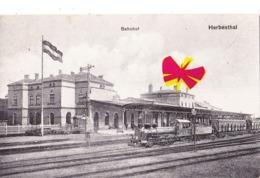 HERBESTHAL - Bahnhof - Carte Publicitaire ? Au Dos - Lontzen