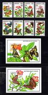 GHANA    1990    Butterflies    Set  Of  8 + 2  Sheetlets    MNH - Ghana (1957-...)