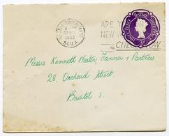 QEII : POSTAL STATIONERY / POSTMARK - WESTON SUPER MARE / ADDRESS - BRISTOL, ORCHARD STREET, 1962 - 1952-.... (Elizabeth II)
