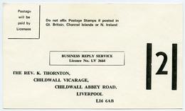 QEII : POSTAL STATIONERY / ADDRESS - CHILDWALL VICARAGE, CHILDWALL ABBEY ROAD, LIVERPOOL / PARISH CHURCH - 1952-.... (Elizabeth II)