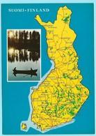 529 - FINLAND - MAP - Cartes Postales