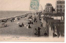 CAYEUX SUR MER - LA PLAGE ET LES CABINES - Cayeux Sur Mer