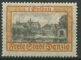 Danzig 1925 Freimarke Schloss Und Kloster Olivia 212 A Mit Falz - Danzig