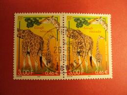 """2000-2009- Oblitéré N°   3333  """"  Girafe""""  La Paire     Net  1   Photo   1 - France"""