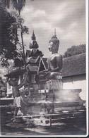 Carte-photo: Boudha En Bronze Wat Sisaket Vientiane Laos    - Bon état - - Laos