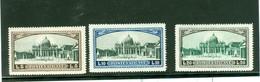 Vatican; Scott # 32 à 34; Neufs, Trace De Charnière  (7655) - Unused Stamps