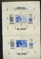 Blocs Orval  Grand Format De 1941 Blocs 11/2 MNH XX Voir Verso - Blocks & Kleinbögen 1924-1960