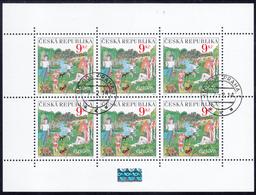 CZECH  REP.  Michel  395  MINI SHEET Very Fine Used - Repubblica Ceca