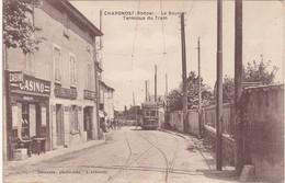 Rhone : CHAPONOST : Le Bouvier Terminus Du Tram ( Animation - Tramway - Devanture Casino ) - Autres Communes