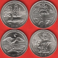 """USA Set Of 4 Quarters: """"America The Beautiful"""" 2018 D UNC - 2010-...: National Parks"""