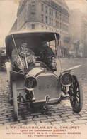 CPA L.FRANQUEBALME ET L.CHEURET - Agents Des Etablissements MIEUSSET Sur Voiture MIEUSSET 28 H.P - Passenger Cars