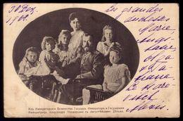 Royal Family TSAR Emperor NICHOLAS II Holstein-Gottorp-Romanov. Old Postcard Circulated RUSSIA To PORTUGAL 1909 - Case Reali
