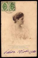 EMPRESS ALEXANDRA FEODOROVNA Holstein-Gottorp-Romanov. Old Postcard Circulated RUSSIA To PORTUGAL 1908 - Case Reali