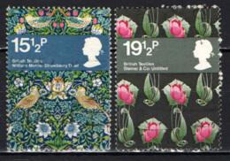 GRAN BRETAGNA - 1982 - FAMOSI TESSUTI INGLESI - USATI - Oblitérés