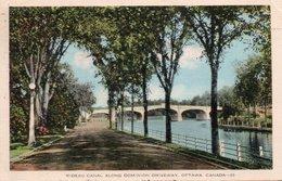 RIDEAU CANAL ALONG DOMINION DRIVEWAY-OTTAWA-CANADA-1938 - Canada