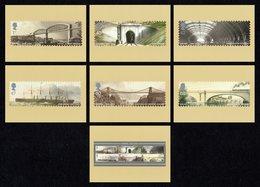 GREAT BRITAIN 2006 Isambard Kingdom Brunel: Set Of 7 PHQ Postcards MINT/UNUSED - 1952-.... (Elizabeth II)