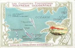 POLYNESIE  FRANCAISE - CPA PUB - CHOCOLATERIE D' AIGUEBELLE. - French Polynesia