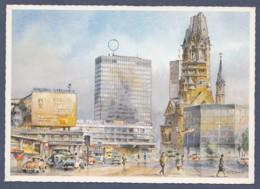 Berlin - Europa Center U. Gedächtniskirche - Künstlerkarte Nitschke - Deutschland