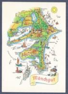 Germany / Mönchgut - Halbinsel Der Ostsee-Insel Rügen - Landkarte - Landkarten