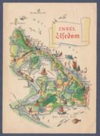 Germany / Die Insel Usedum In Der Ostsee - Landkarte - Landkarten