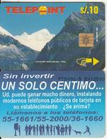 """PERU - Paron Lake/Ancash(puzzle 2/4, Reverse """"Un Solo Centimo""""), Tirage 12500, Used - Peru"""