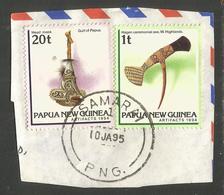 PAPUA NEW GUINEA. ARTIFACTS. SAMARAI POSTMARK. USED - Papua New Guinea