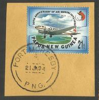 PAPUA NEW GUINEA. AIRPLANES. PORT MORESBY POSTMARK. USED - Papua New Guinea