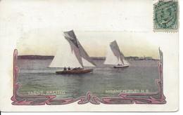 Yacht Racing, Miramichi River, N.B., Advertizing Card  ,(18.451) - New Brunswick