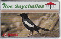 SEYCHELLES ISL. - Bird, Seychelles Singing Magpie, CN : 608A, Tirage 20000, Mint - Seychelles