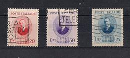 REGNO D'ITALIA 1938 GUGLIELMO MARCONI SASS. 436-438 USATA VF - Usati
