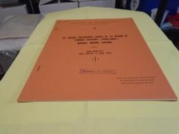 ROCHES VOLCANIQUES ACIDES REGION TERNUAY-SERVANCE (HAUTE-SAONE) Qqs Données Nouvelles 1973 MORRE-BIOT BOISSON CUDEY - Franche-Comté