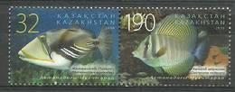 Kazakhstan 2010 Mi 697-698 MNH ( ZS9 KZKpar697-698b ) - Peces