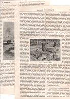 "Coupure De Presse  - 2 Gravures - Année 1895 - (60) Oise - Menhir De Borest ""De Gargantua"" - Documentos Antiguos"