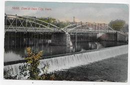 (RECTO / VERSO) IOWA CITY EN 1911 - N° 5688 - DAM AT IOWA CITY - BEAU TIMBRE ET FLAMME - CPA COULEUR VOYAGEE - Iowa City