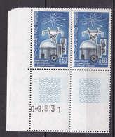 N° 1462 20ème Anniversaire Du Commisariat à L'Energie Atomique: Belle Paire De 2 Timbres Neuf Impeccable - Unused Stamps