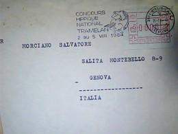 Suisse  Targhetta  Vignette  Concours HIPPIQUE  IPPICA  TRAMERLAN  1984   X ITALIA HK4823 - Storia Postale
