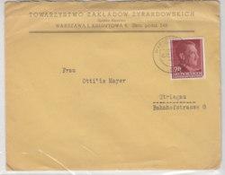 GG - Brief Aus WARSCHAU 5.11.42 Nach Striegau - Ocupación 1938 – 45