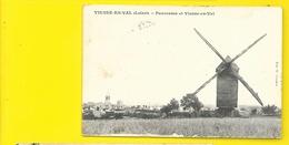 VIENNE En VAL Rare Panorama Moulin (Chartier) Loiret (45) - France