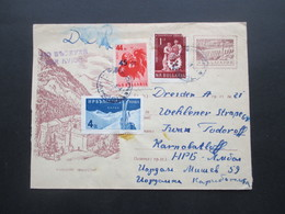 Bulgarien 1959 Ganzsachen Umschlag Mit 3 Zusatzfrankaturen Luftpost In Die DDR - Briefe U. Dokumente